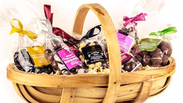 A Gift Hamper of Branded Chocolates