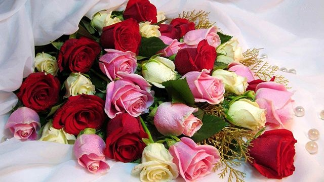 Long stemmed Roses and a big box of Chocolates
