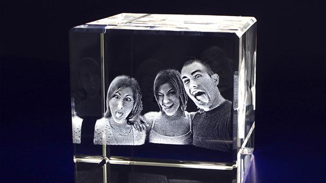 Photo Laser Crystal Cube