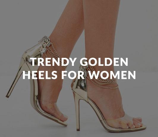 Trendy_Golden_Heels_for_Women