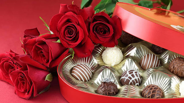 Red Flowers and Handmade Chocolates that Symbolise Love
