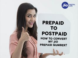 Reliance Jio Convert Prepaid Number to Postpaid
