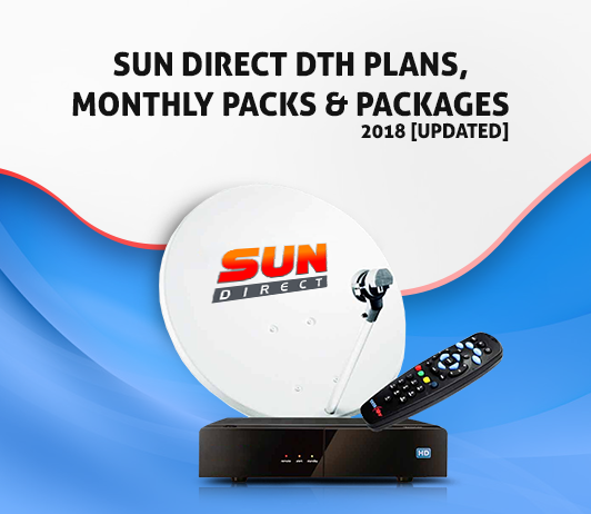 Sun Direct DTH Plans, Packs and Packages