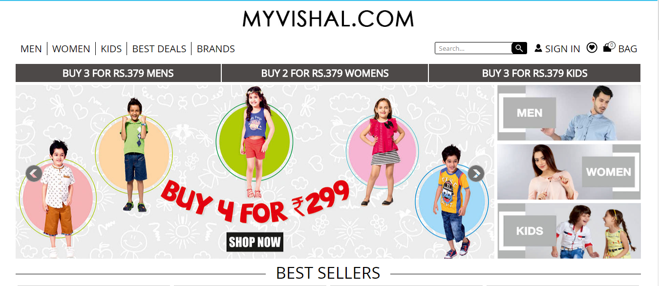 MyVishal Website