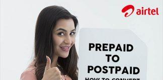 Airtel Prepaid to Postpaid - How to Convert my Airtel Prepaid Number?