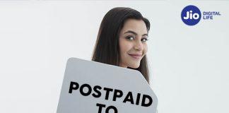 Reliance Jio Postpaid to Prepaid