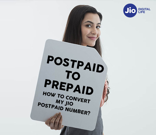 Reliance Jio Postpaid to Prepaid