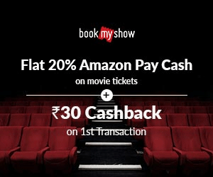 Bookmyshow Exclusive Offer on Tickets