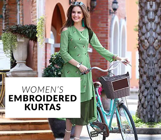 Women's Embroidered Kurtas