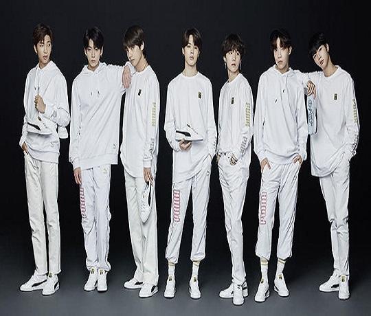 Puma Collaborates with Boy Band BTS
