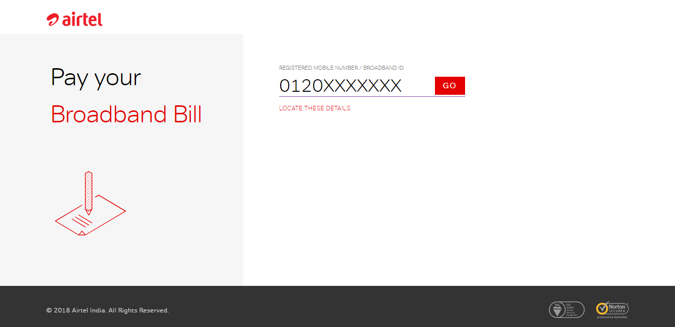 airtel website