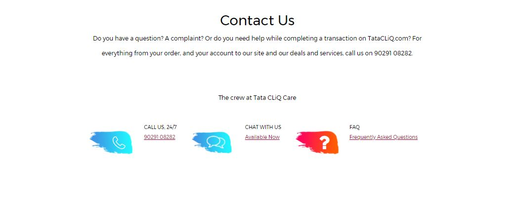 tata cliq customer care