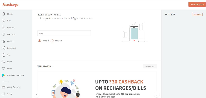 TATA Docomo Fixed Line Bill on Freecharge