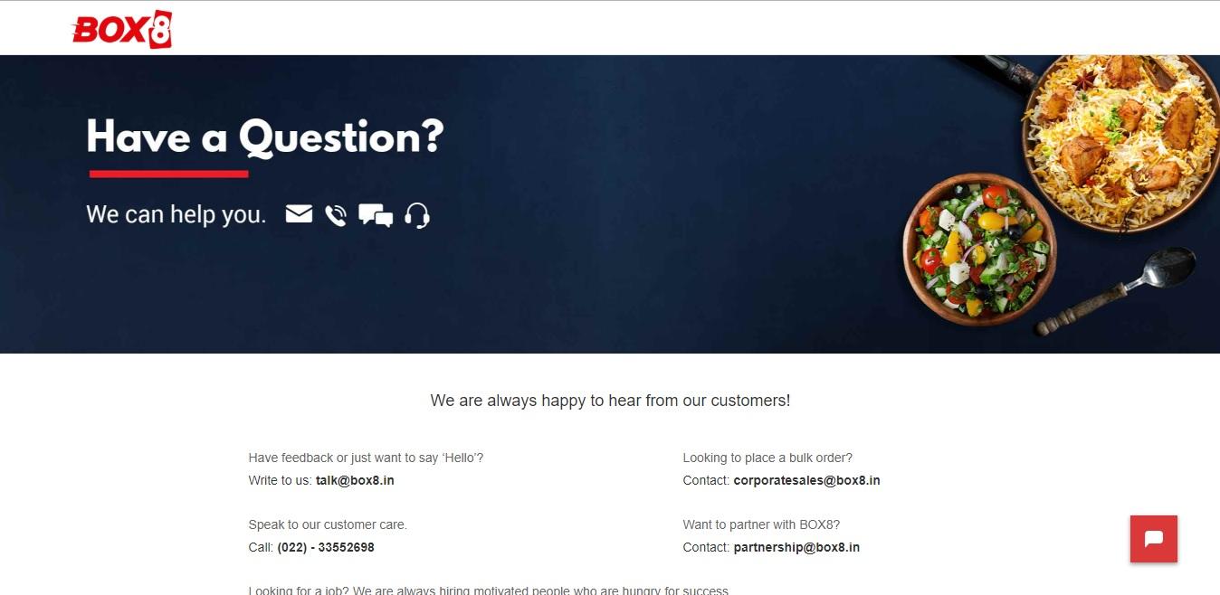 box8 contact page