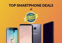 Top Smartphone Deals at Flipkart Big Billion Days