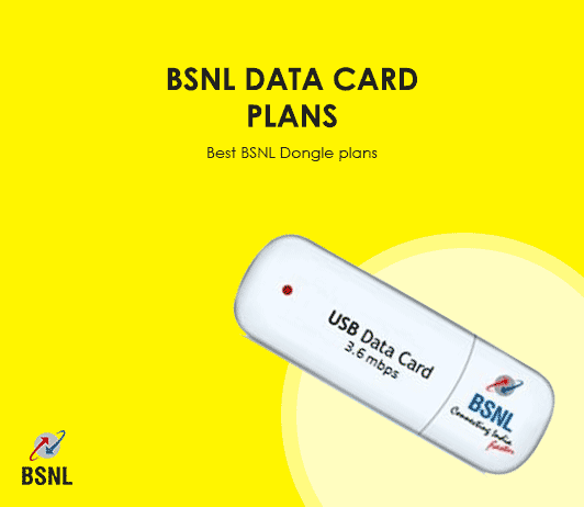 BSNL Data Card Plans List 2019: Latest BSNL Dongle & Data Card Tariff Packs & Packages