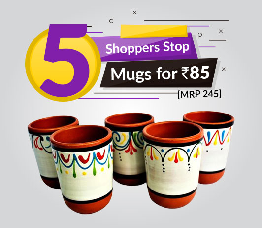 Buy 5 Shoppers Stop Mugs for Rs.85 [MRP 245]
