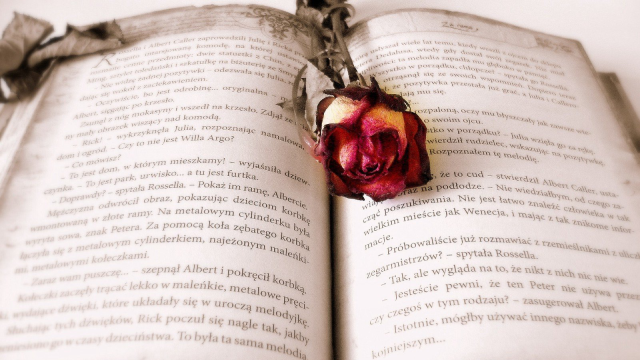 A Romantic Book With Cute Bookmarks