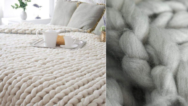 Knit Blanket To Snuggle Up In Those Winter Months