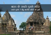 Famous Oldest Temples in India in Hindi