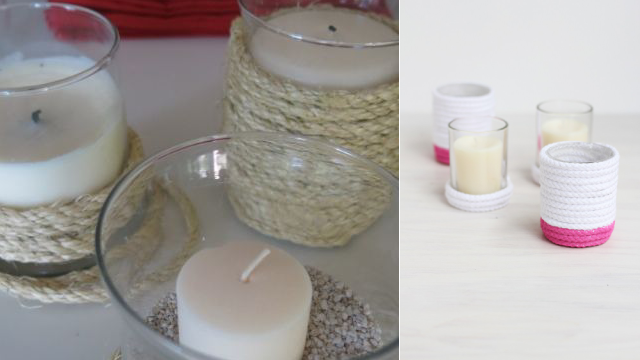 Rope Votives For Home Decor