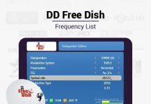 DD free dish frequency