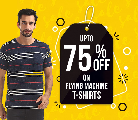 How To Get Upto 75% Off On Flying Machine T-shirts