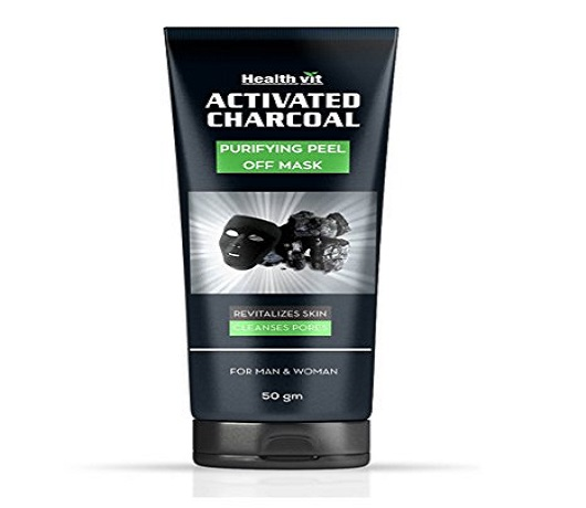 Healthvit Activated Charcoal Purifying Peel-Off Mask