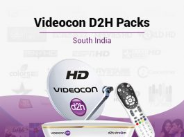 Videocon D2H Packages South - Best Videocon D2H South Plans & Packs