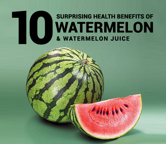10 Surprising Health Benefits of Watermelon & Watermelon Juice - Calories, Uses, Nutrition & More