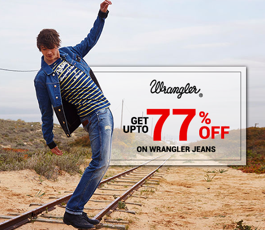 Buy Stylish Wrangler Jeans @Upto 77% Off