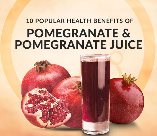 10 Popular Health Benefits of Pomegranate & Pomegranate Juice - Calories, Nutrition, Uses & More