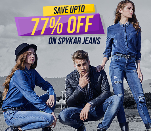 Save Upto 77% Off On Spykar Jeans And Be Travel Ready