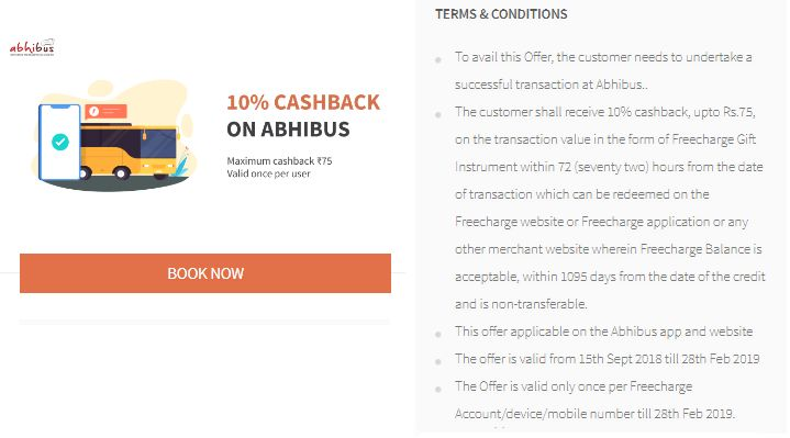 Freecharge Abhibus Offer