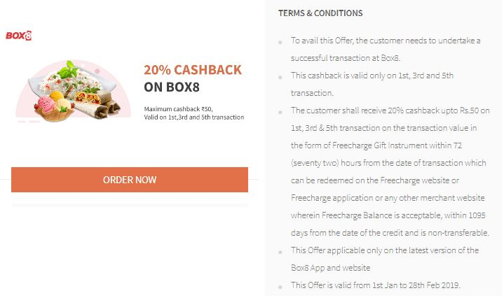 Freecharge Box8 Offer