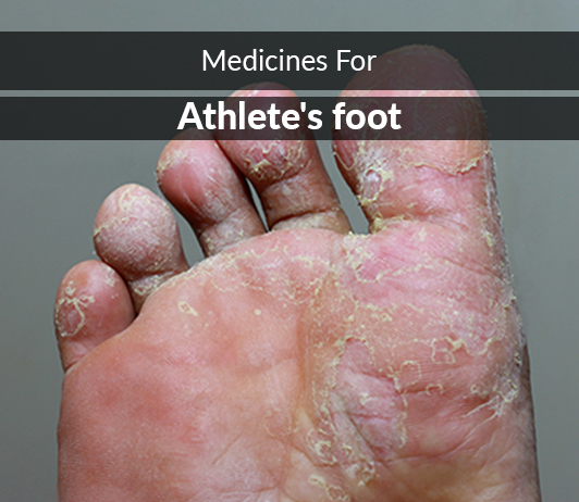 List of 13 Best Medicines for Athlete's foot - Composition, Dosage, Popularity & More (2019)