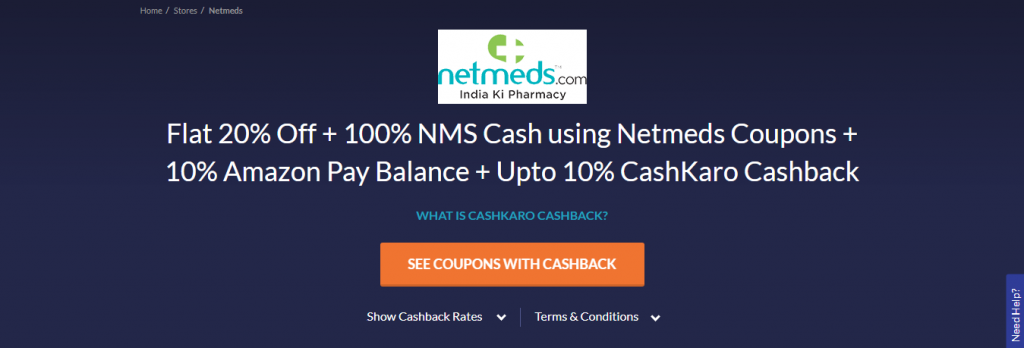 Select The 'See Coupons With Cashback' Button