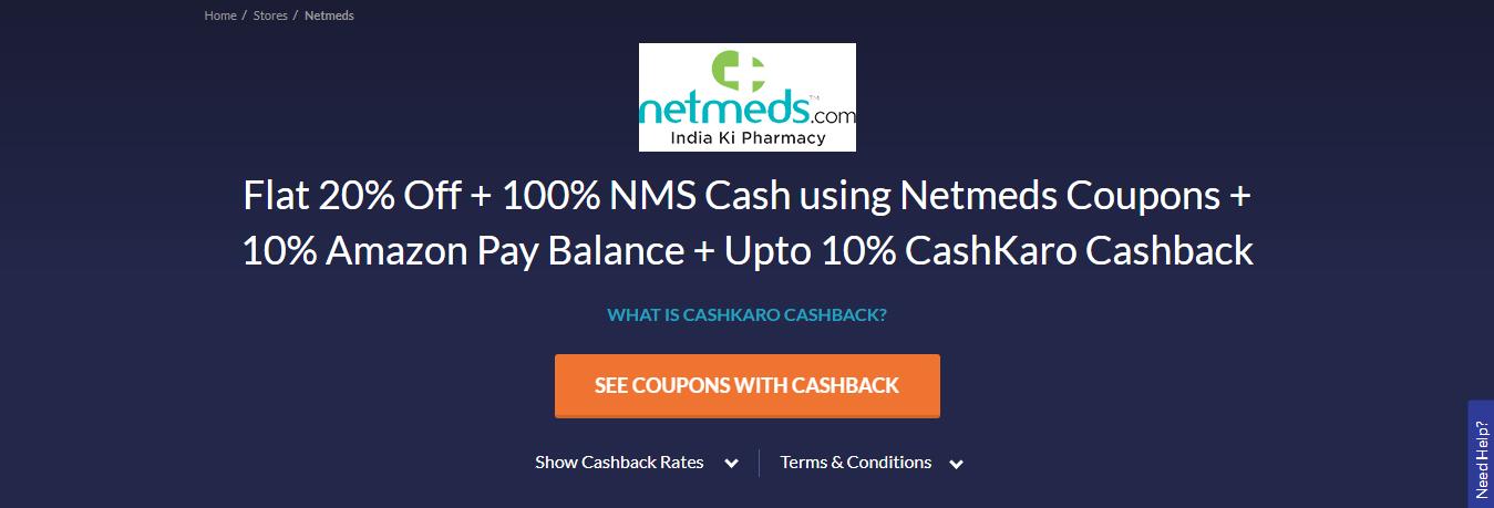 Visit Netmeds Store Via CashKaro
