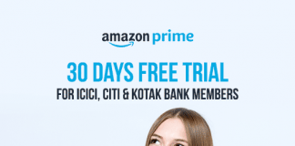 Amazon Prime Free Trial Bank Offer