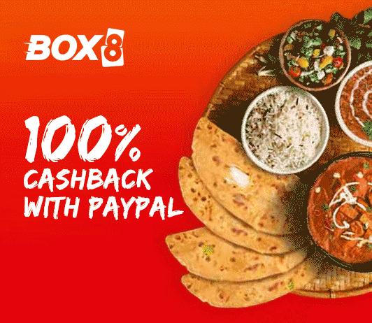 Box8 PayPal 100% Cashback Offer