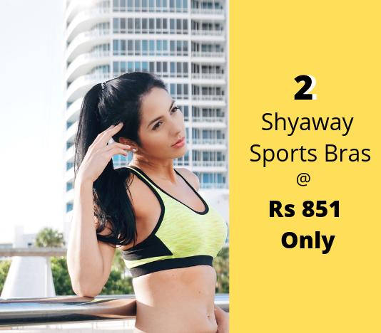 Buy 2 Shyaway Sports Bras at Rs 851
