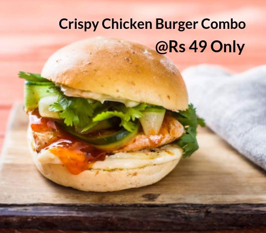 Crispy Chicken Burger Combo