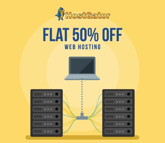 Hostgator Web Hosting Flat 50% OFF