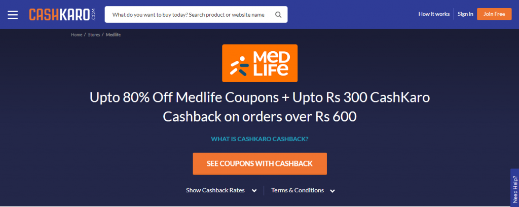 Click The 'See Code With Cashback' Button