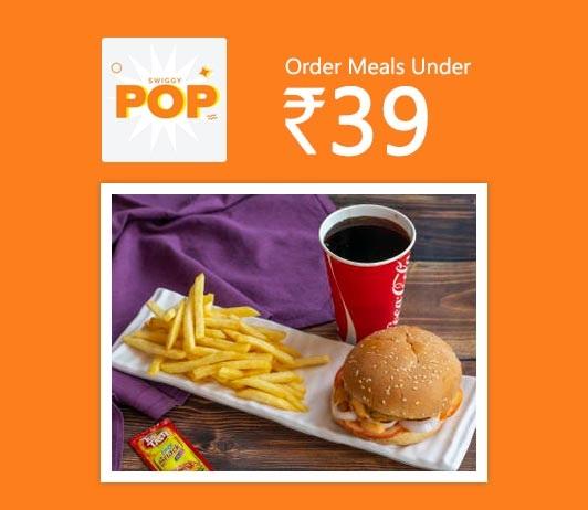 Order Meals Under Rs 39
