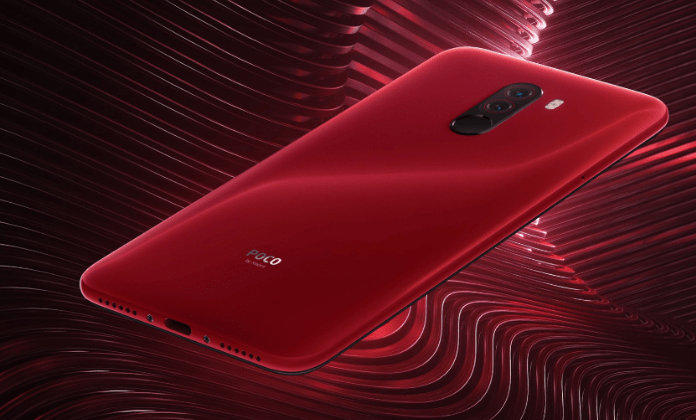 POCO F1 in red color