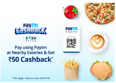 Paytm Top Eateries 3 Pe 50 Offer