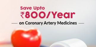 Save Up To Rs.800/Year On Coronary Artery Medicines