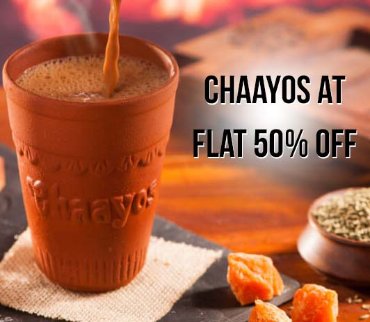 Chaayos Flat 50% Offer