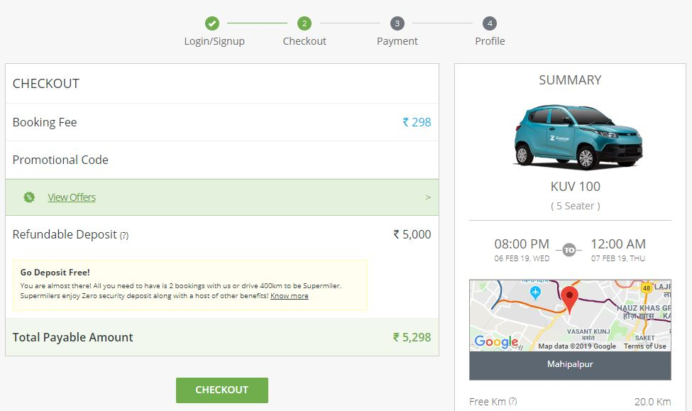 Zoomcar offer